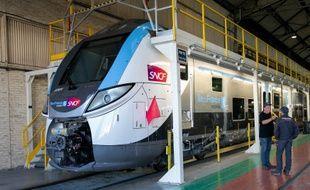 Le nouveau train de banlieue de la région Ile-de-France, le