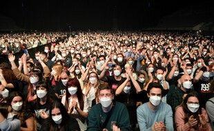 Le concert test du groupe Love of Lesbian à Barcelone, le 27 mars 2021.
