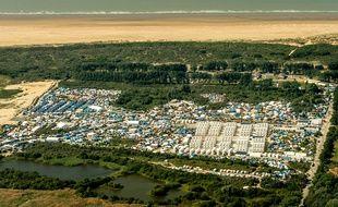 Vue aérienne de la «Jungle» de Calais