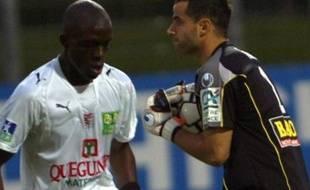 Michaël Fabre (à droite) avec le Clermont Foot en Ligue 2
