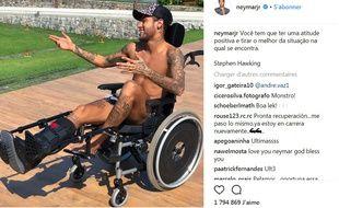 La photo «hommage» de Neymar à Stephen Hawking.