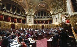 Christiane Taubira, lors de l'ouverture des débats sur le «mariage pour tous» au Sénat, le 4 avril 2013.