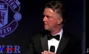 Louis Van Gaal n'était plus lui-même lors du gala annuel de Manchester united.