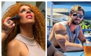 Afida Turner et Chris Hemsworth.
