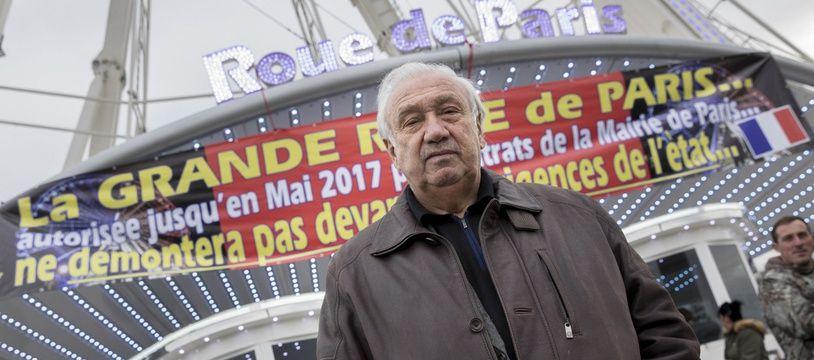 Marcel Campion, devant la Grande Roue de la place de la Concorde à Paris, le 24 novembre 2016.