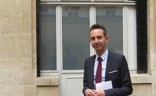Paris, le 1er juillet 2014, Ian Brossat, adjoint chargé du Logement à la Mairie de Paris.