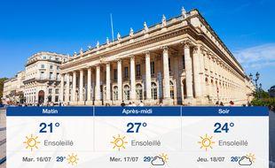 Météo Bordeaux: Prévisions du lundi 15 juillet 2019