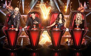 Pascal Obispo, Marc Lavoine, Amel Bent et Lara Fabian, coachs de la saison 9 de «The Voice».