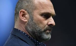 Pascal Dupraz, l'entraîneur du TFC, lors du match de Ligue 1 contre le Paris Saint-Germain au Parc des Princes, le 19 février 2017.