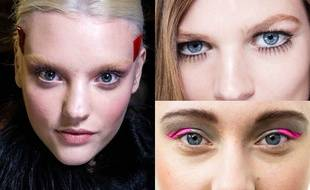 English rose au défilé Givenchy, regard Twiggy chez Gucci et eye-liner coloré chez Chanel.