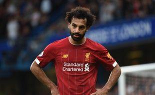 Mohamed Salah sous le maillot de Liverpool lors d'un match contre Chelsea, le 22 septembre 2019.