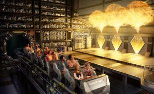 La nouvelle attraction du Futuroscope, le roller-coaster Objectif Mars