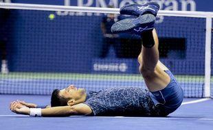 Novak Djokovic après sa victoire face à Del Potro en finale de l'US Open, le 10 septembre 2018.