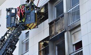 Un incendie s'est déclaré dans un immeuble du quartier Bottière, le 28 mars 2021