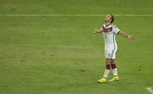 Mario Götze, buteur en finale de la Coupe du monde le 13 juillet 2014.