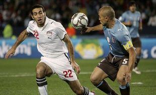 Aboutrika, lors d'un match de Coupe des confédérations contre l'Italie, en 2009