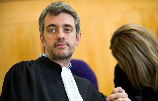 Riom (Puy de Dôme), le 16 novembre 2016. L'avocat Renaud Portejoie défend Cécile Bourgeon devant la cour d'assises dans l'affaire Fiona.