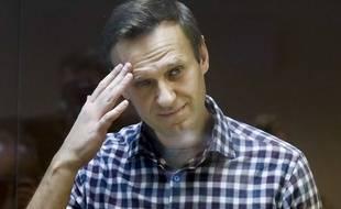 Alexeï Navalny lors de son procès à Moscou le 20 février 2021.