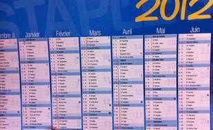 Un calendrier de l'année 2012.