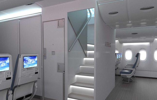 Airbus a annoncé la reconfiguration de la cabine de l'A380 pour accueillir plus de passagers.