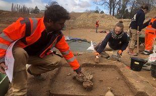 Strasbourg: Fouilles archéologiques sous le tram