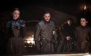 Trois Stark et une moitié de Stark réunis comme au bon vieux temps des débuts de Game of Thrones