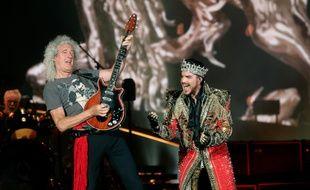 Le guitariste de Queen, Brian May, et son chanteur, Adam Lambert