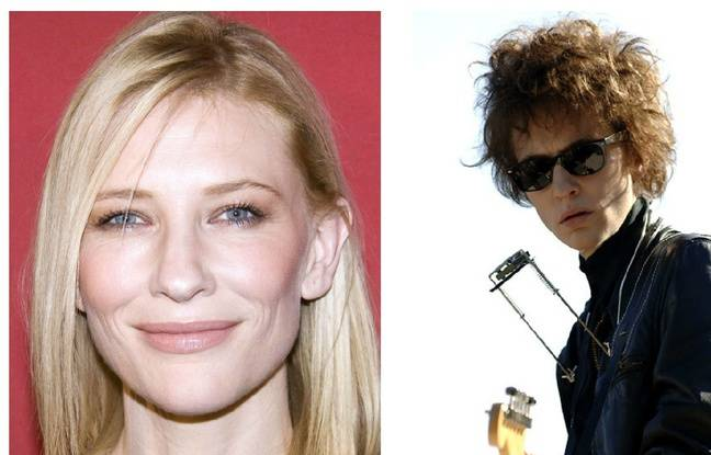 Cate Blanchett en 2007 et dans «I'm Not there».