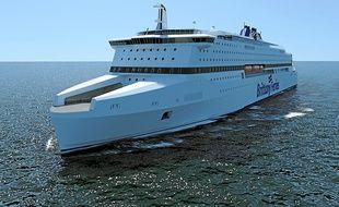 Résolument écologique, le ferry sera aussi l'un des plus gros au monde.