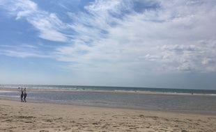 Plage sur le littoral de Nouvelle-Aquitaine, à Soulac (Gironde).