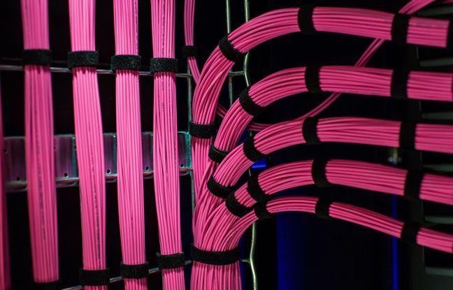 Illustration: des câbles de fibre optique.