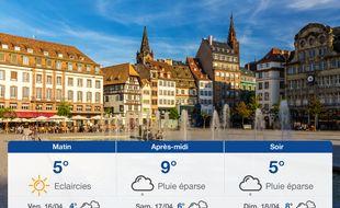 Météo Strasbourg: Prévisions du jeudi 15 avril 2021