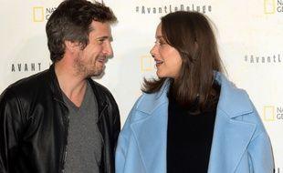 Guillaume Canet et sa compagen Marion Cotillard à Paris en octobre 2016.