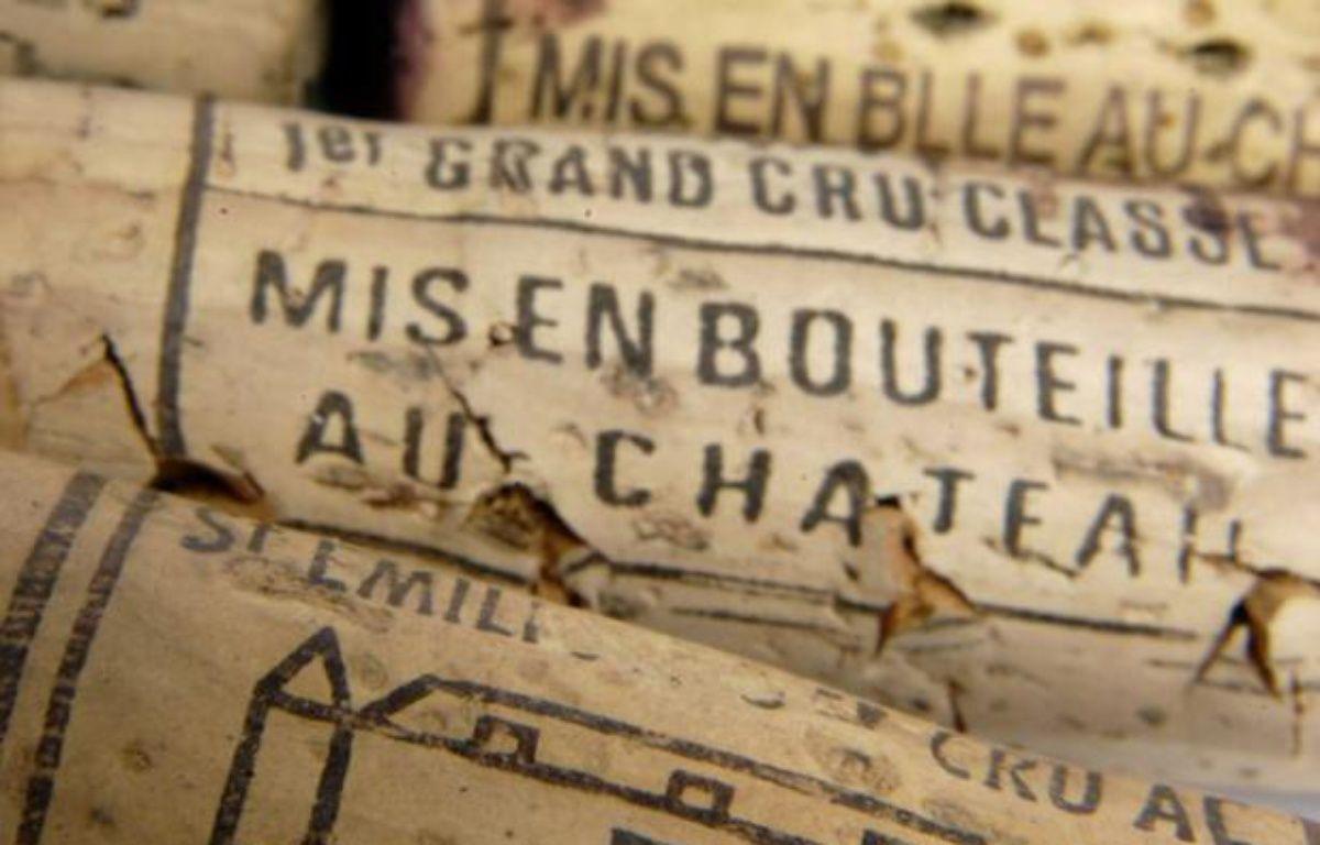 Bouchons de vins français. – JAUBERT/SIPA