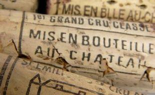 Bouchons de vins français.