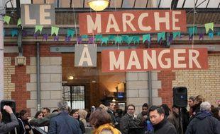 La deuxième édition du Marché à Manger, food market organisé dans les halles centrales à Rennes.