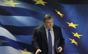 Le ministre grec des FinancesEvangelos Venizelosle 12 décembre 2011 à Athènes.