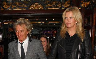 Le chanteur Rod Stewart et son épouse, Penny Lancaster