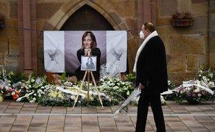Lors de l'hommage à Estelle Luce à Orschwihr, samedi 6 février.