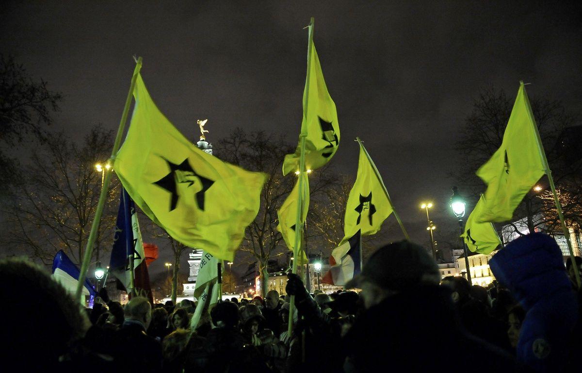 Un rassemble de la Ligue de Défense Juive à Paris.  – SIPA PRESS