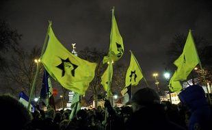 Un rassemble de la Ligue de Défense Juive à Paris.