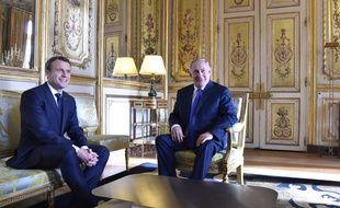 Emmanuel Macron et Benjamin Netanyahu à Paris, le 10 décembre 2017.Credit:Liewig Christian-POOL/SIPA.