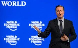 Le Premier ministre britannique David Cameron au Forum de Davos, le 21 janvier 2016