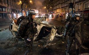Des forces de l'ordre à Paris, le 1er décembre 2018.