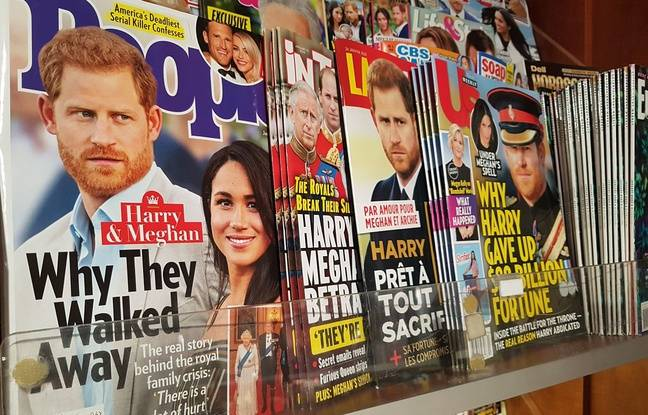 At the Multimags newspaper store in Montreal, the Megxit made the headlines on January 20, 2020.