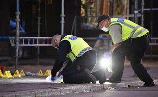 Une fusillade a fait 1 mort et 4 blessés dans le centre-ville de Malmö, en Suède, le 18 juin 2018.