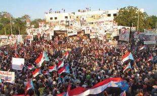 Des milliers de manifestants dans les rues d'Aden afin de réclamer l'indépendance du sud du Yémen, le 30 novembre 2014