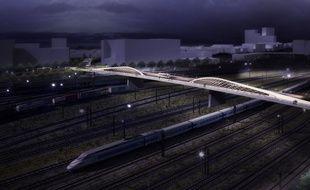 Image de synthèse du projet de pont Amédée Saint-Germain-Armagnac à Bordeaux