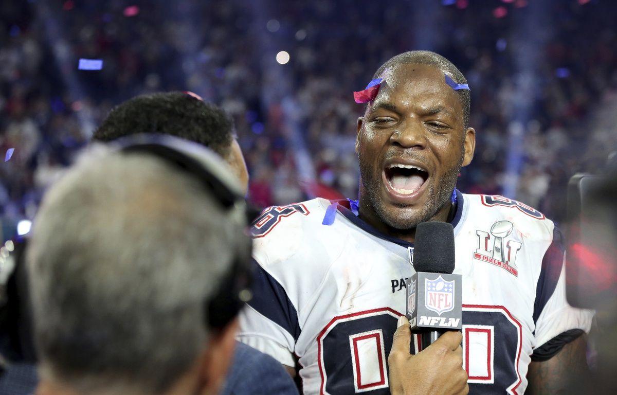 Marcellus Bennet après la victoire des Patriots, le 4 février 2017.  – Gregory Payan/AP/SIPA