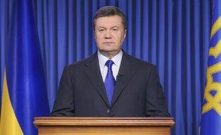 Le président ukrainien déchu Viktor Ianoukovitch, le 19 février 2014.